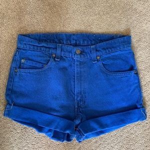 Vintage dyed Levis shorts